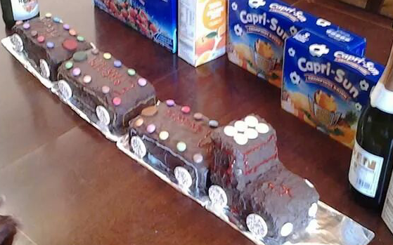 Train Cake by Mrs U Makes