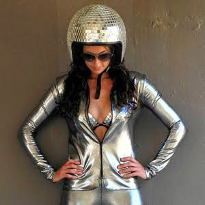 Mirrored Disco Helmet