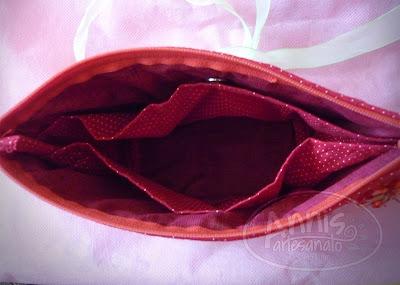 annis artesanato necessaire vermelha