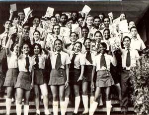 Alumnos integrantes del Contingente Manuel Ascuce Domenech