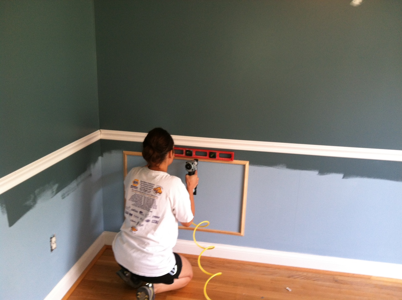 The Room Stylist DIY Project Wainscoting Chair rail