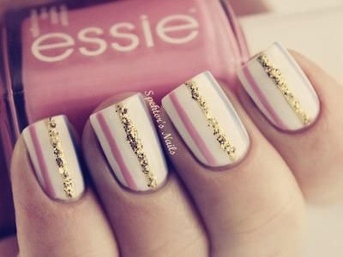 Blush and bangs nail art spring time prinsesfo Gallery