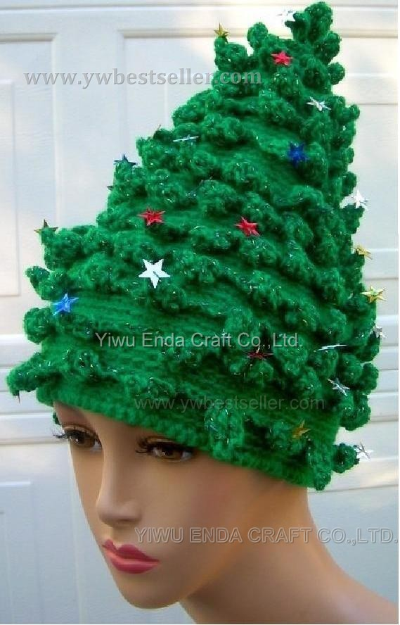 Free Crochet Christmas Tree Hat : Gallery For > Crochet Christmas Tree Hats