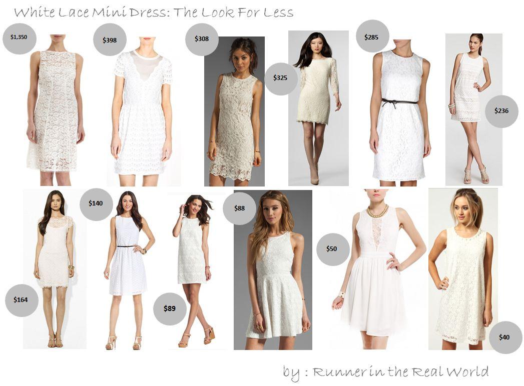 White Dresses for Less