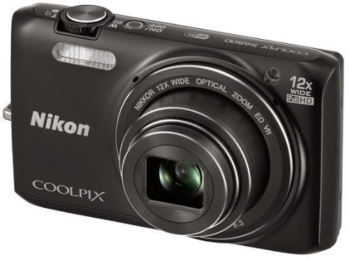 Nikon S6800 16 MP Point and Shoot Camera (Black) with 12x Optical Zoom, Memory Card and Camera Case for Rs 7398