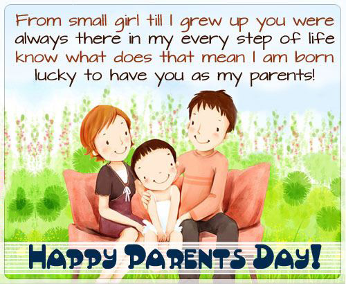 Happy Parents' Day Quote From A Small Girl