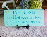 Happiness is Beach Sign