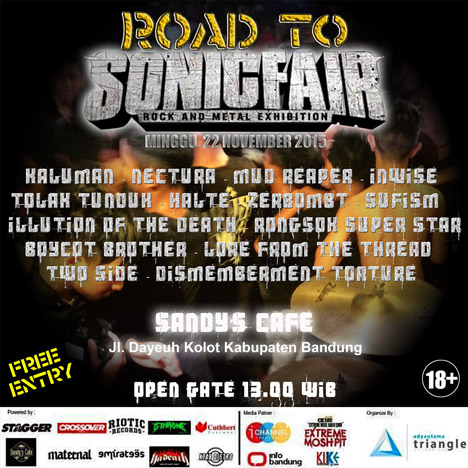 ROAD TO SONICFAIR edisi 2 di Sandy'sCafe