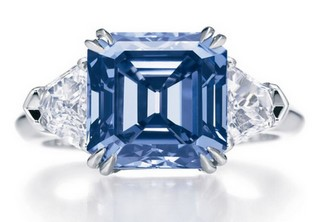 the blue diamond rings