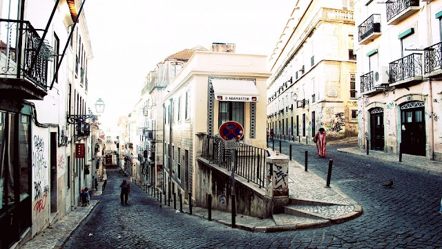 Lisbon Charming And Nice Streets Portugal HD Desktop Wallpaper