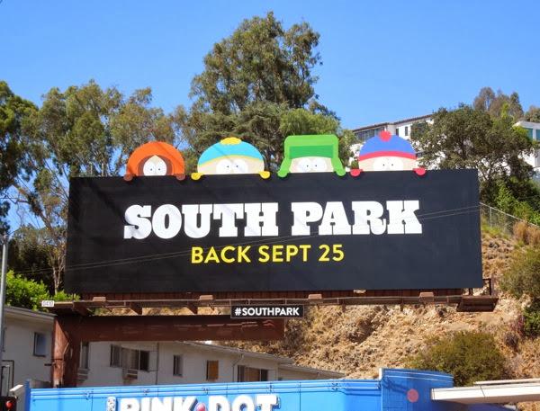South Park season 17 Comedy Central billboard