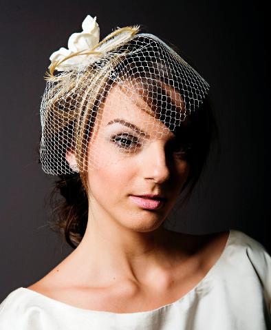 short hair wedding veil