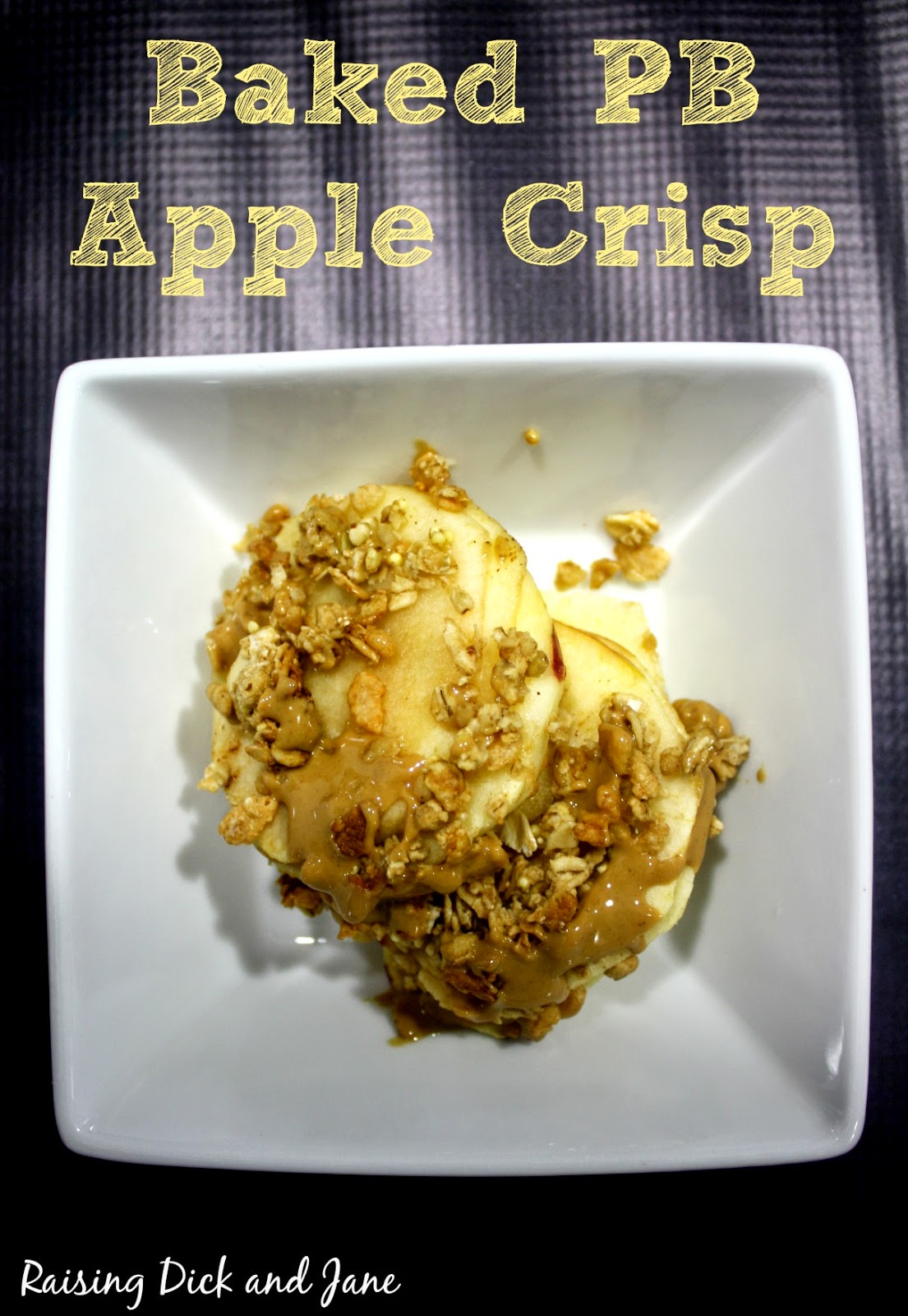 #ad #Kindawesome Baked Granola Apple Crisp