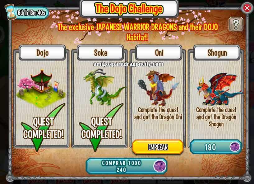 imagen del oni de la isla dojo de dragon city de facebook