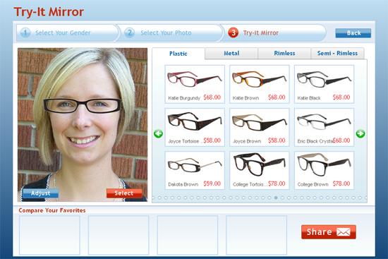 The D.I.Y. Dreamer: Glasses USA - Virtual Mirror Fun