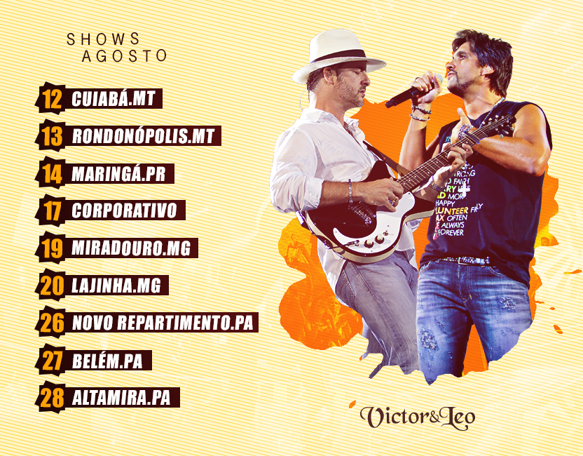 Shows | Mês de Agosto
