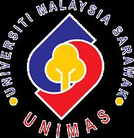 animated spinning unimas logo berpusing