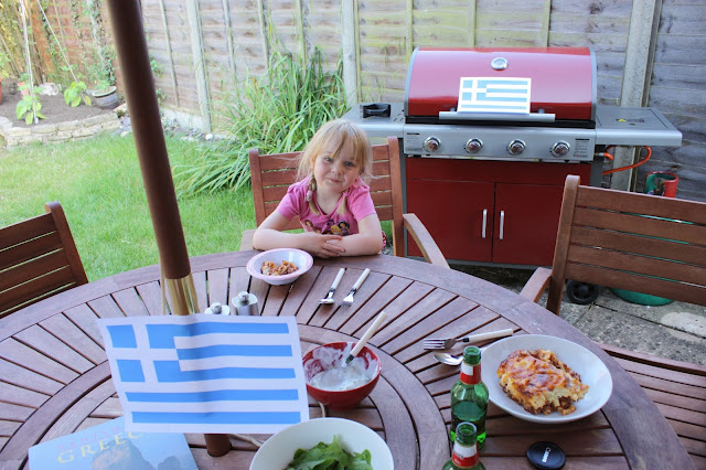 Enjoying a greek family meal for under a tenner