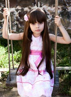 very cute natural baby girl long hair style  hair style