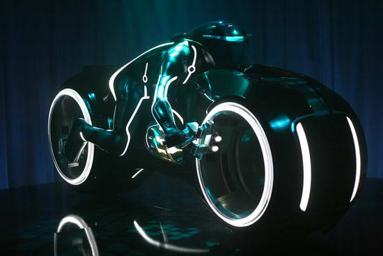 Future Tron Inspired Motorcycle