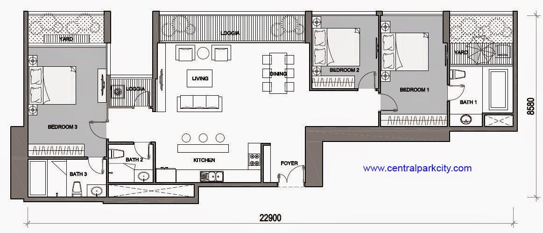 Vinhomes Central Park Penthouse - Căn Vinhomes Penthouse số 07 tầng 46 - 3PN - 159.8m2