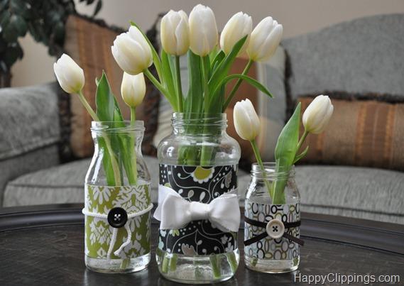 decorar botes de cristal