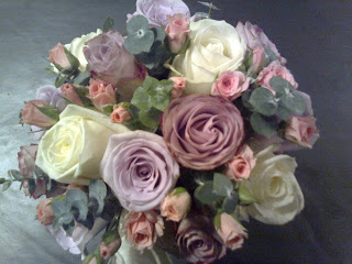 Ocean Song Rose Bouquet  ocean song  lilac roses