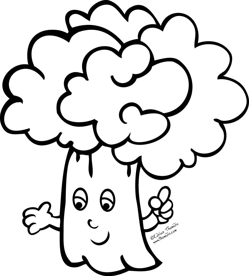 Coloring Pages for Kids Broccoli