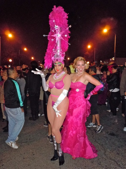 West Hollywood Halloween pink glamour