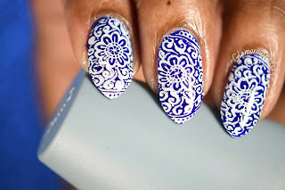 Blue & White Stamping