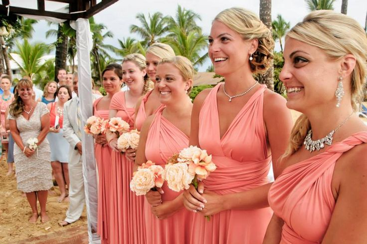 Sweetest coral considered for bridesmaid dresses bridal for Coral wedding bridesmaid dresses