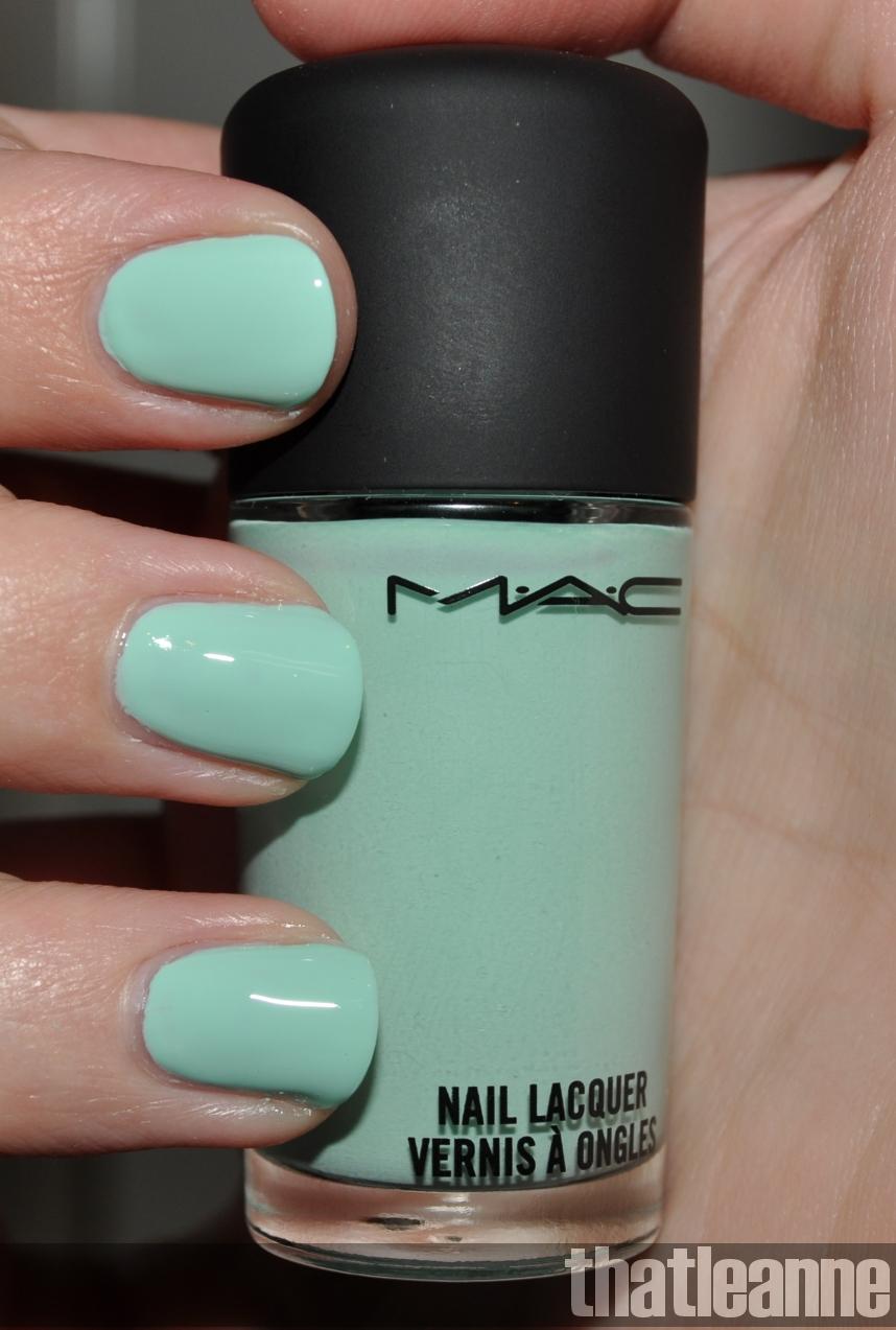 thatleanne: MAC Quite Cute Nail Polish Swatches and garden nail art ;-)