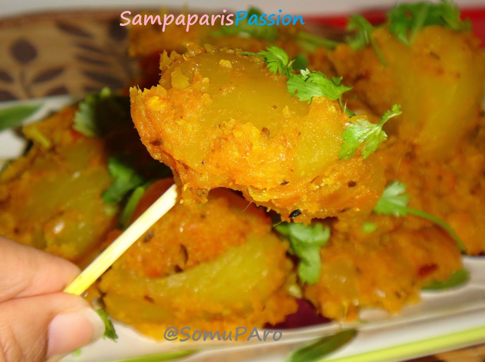 Enjoy Your's Aloo Achari' / Potatoes tempered with pickle spices..!!!