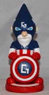 Captain Gnomerica is a Captain America garden snome