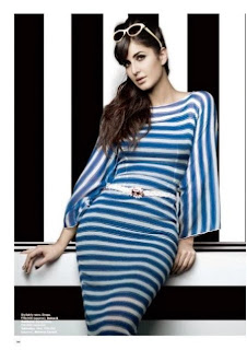 katrina-kaif-wearing-a-designer-blue-lined-design-in-harpers-bazaar-india-magazine