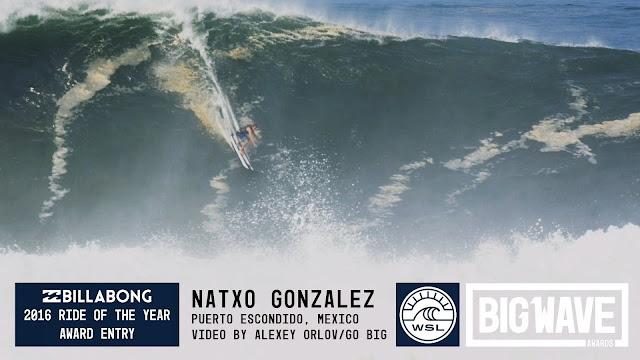 Natxo Gonzalez at Puerto - 2016 Billabong Ride of the Year Entry - WSL Big Wave Awards