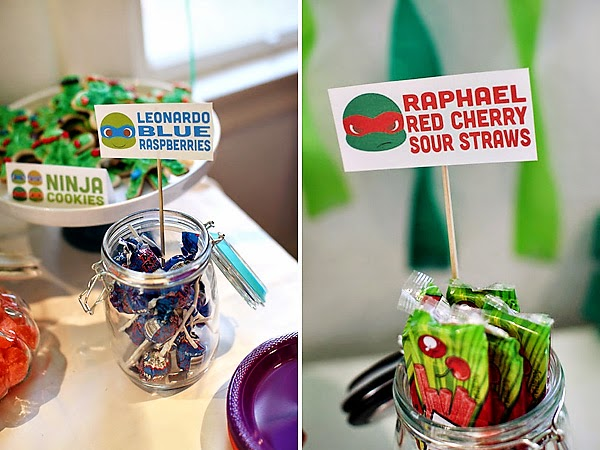 TMNT Party candy
