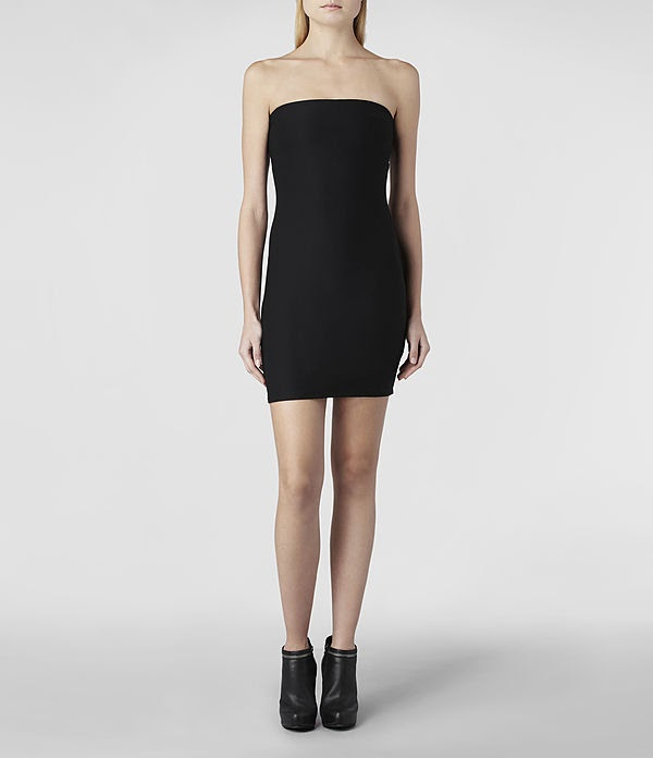 all saints, elbise modelleri, gece elbiseleri, 2014 elbise modelleri, siyah elbise, askılı elbise, fermuarlı elbise