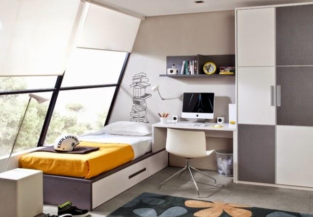 Dormitorios juveniles en gris y blanco colores en casa for Jugendzimmer colours