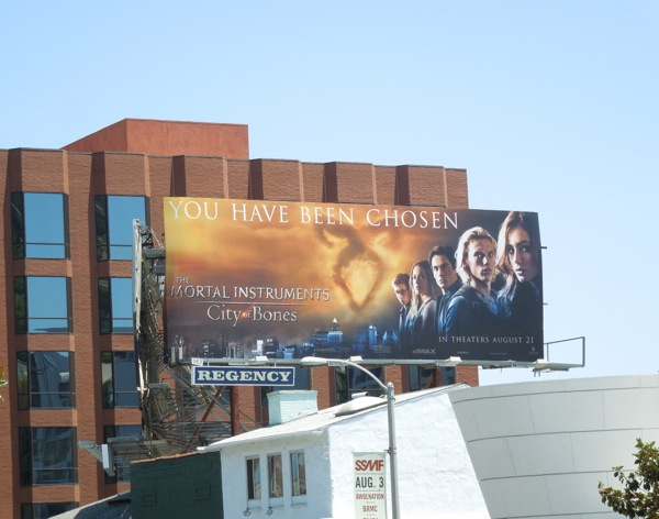 You have been chosen Mortal Instruments billboard