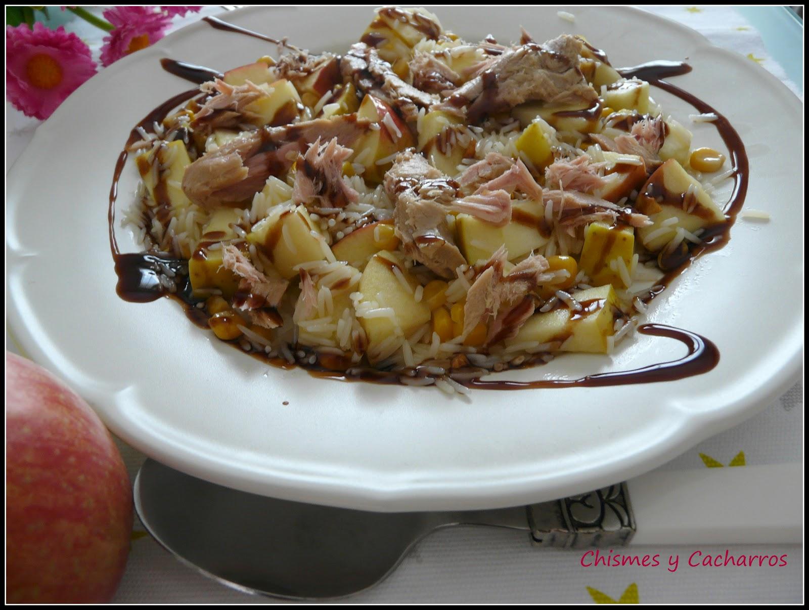 Chismes y cacharros ensalada templada de arroz con - Ensalada de arroz y atun ...