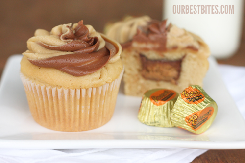 peanut butter cupcakes with white cake mix
