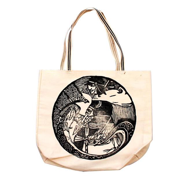 Bolsa Ecobag com estampa em Xilogravura Xilo Shirt