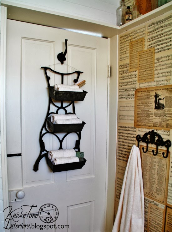 http://knickoftimeinteriors.blogspot.com/2014/03/repurposed-antique-sewing-machine-stand.html