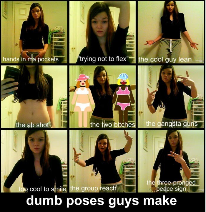 Dumb Poses Guys Make On Facebook