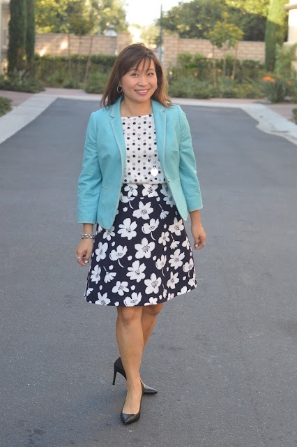 Floral and polka dots, Fashion Over 40