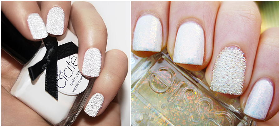 The Glamorous Feather white nail designs 2015 Picture
