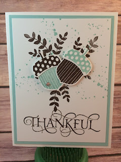 This fall/acorn card uses Stampin' Up!'s Acorn Builder Punch, Acorny Thank You, For All Things, Six Sayings, and Gorgeous Grunge stamp sets.  www.stampwithjennifer.blogspot.com