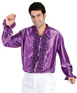 70s ruffle shirt