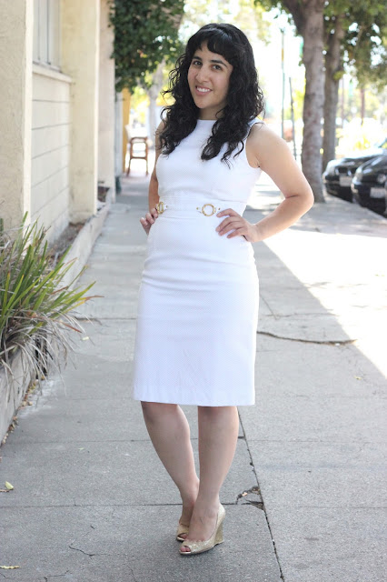 White Summer Work Dress